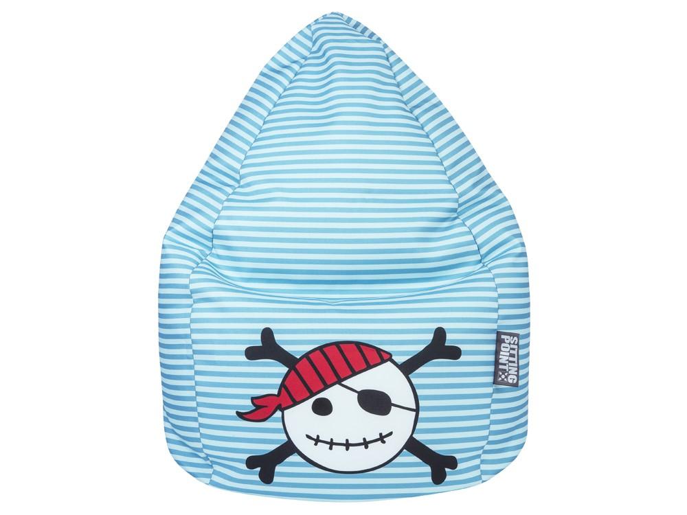 Kindersitzsack Pirat, Sitzkissen XL mit lustigem Piratenmotiv 001