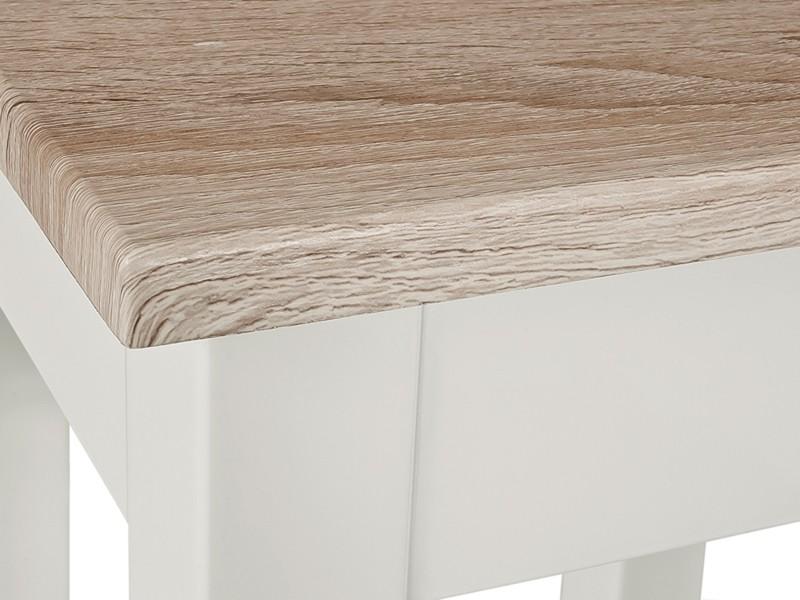 Tischplatte weiß hochglanz  Beistelltisch Weiß Platte Sonoma Eiche sägerau 56x30x52 - Möbel ...