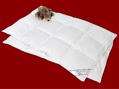 Bettdecke Kinder 100x135 leichte Daunendecke 100% Daunen waschbar