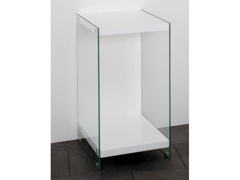 beistelltisch nachttisch glas ablagen wei 74x40x40 m bel m bel kleinm bel. Black Bedroom Furniture Sets. Home Design Ideas