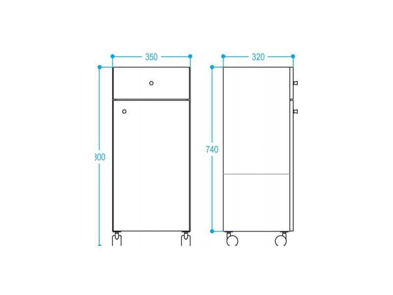 badm bel edelstahl badschrank unterschrank auf rollen schmal und hoch. Black Bedroom Furniture Sets. Home Design Ideas