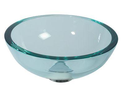 Glaswaschbecken transparent Handwaschbecken rund 30cm Lineabeta