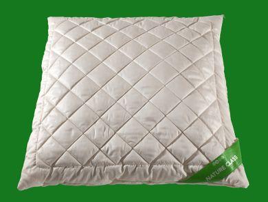 Kopfkissen Merino Wolle 80x80 Schlafkissen Baumwollsatin