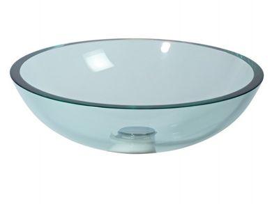 Glaswaschbecken Aufsatzwaschbecken transparent Lineabeta 42 cm
