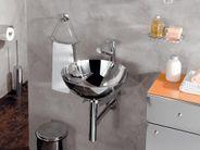 Handwaschbecken Edelstahl 24cm  Aufsatzbecken poliert rund Lineabeta Acquaio