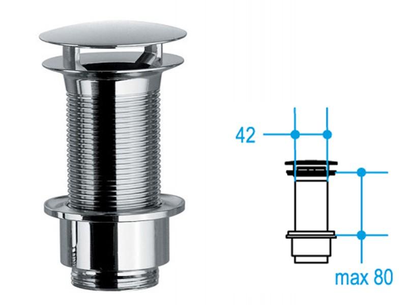 Ablaufgarnitur 80mm Waschbecken ohne Überlauf Busi E Cane 001