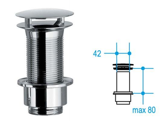 Freie Ablaufgarnitur 80mm Waschbecken ohne Überlauf 001