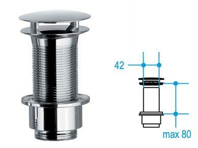 Freie Ablaufgarnitur 80mm Waschbecken ohne Überlauf