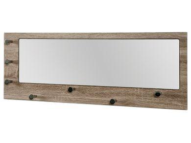Wandgarderobe mit Spiegel Eiche trüffel 7 Haken