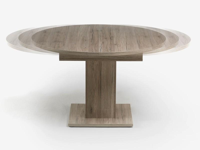 Esstisch rund ausziehbar 104 cm sanremo hell for Esstisch rund 100 cm ausziehbar