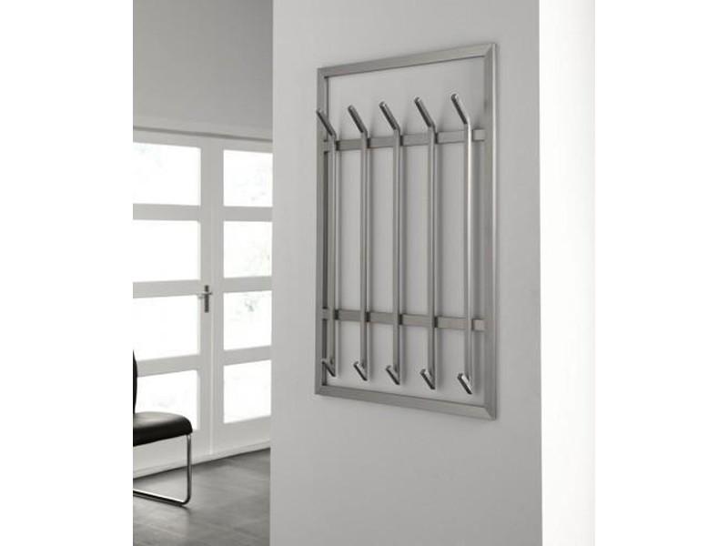 wandgarderobe edelstahl flurgarderobe 100x65 matt flur wandgarderoben. Black Bedroom Furniture Sets. Home Design Ideas