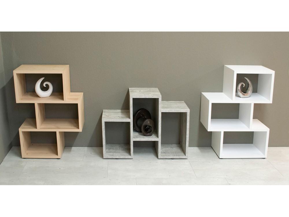 standregal stufenregal h ngeregal wei matt 3 f cher m bel m bel regale. Black Bedroom Furniture Sets. Home Design Ideas