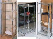 Badregal Wandregal Rahmen Chrom Glasablagen Design GLORIA