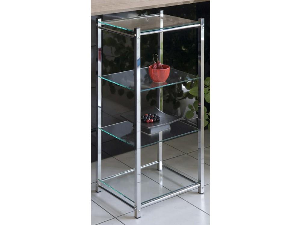 Badregal Glasregal Standregal Chrom 4 Glasböden 001