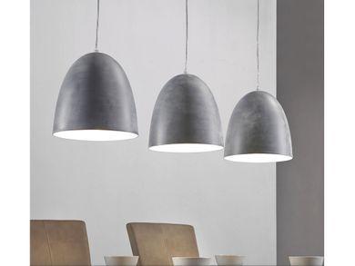 Hängelampe Deckenlampe 3-flammig Industrie Look Factory betongrau