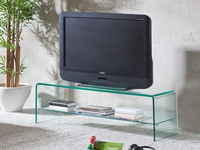 TV Regal Glasregal Fernsehtisch Glastisch 110 cm 001