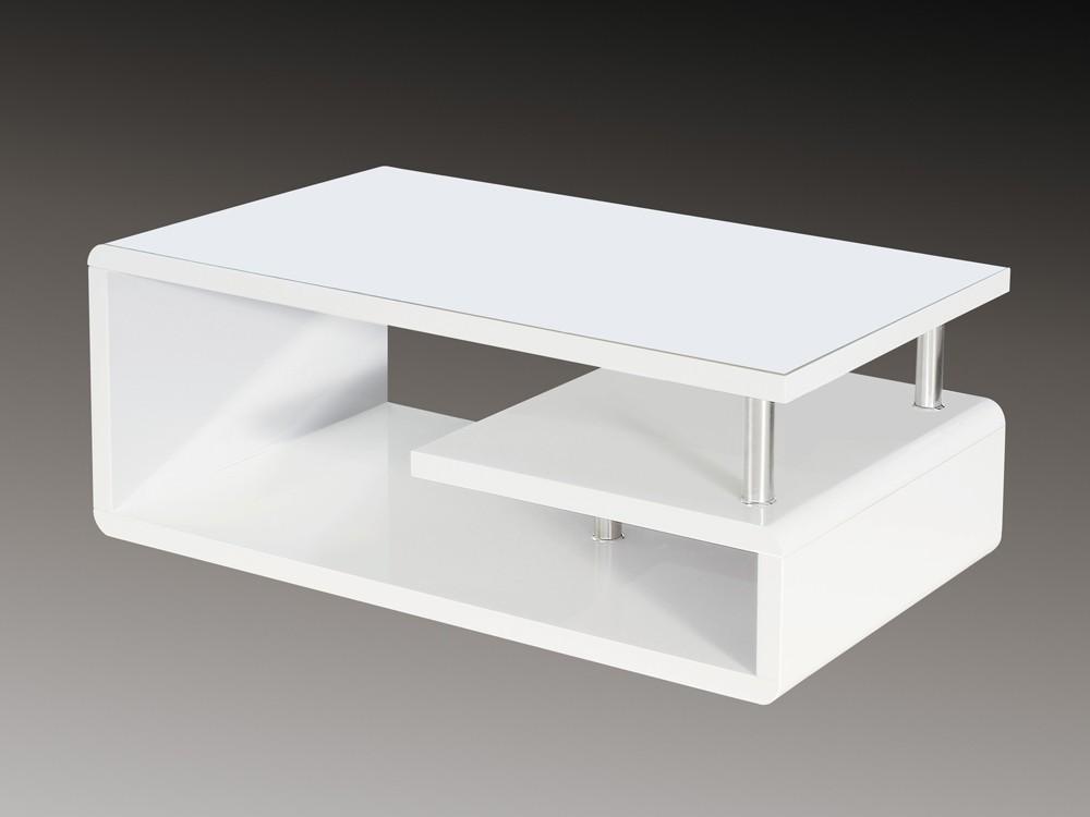 Couchtisch Weiß Lack hochglanz Wohnzimmertisch 110x60x42 Sale 001