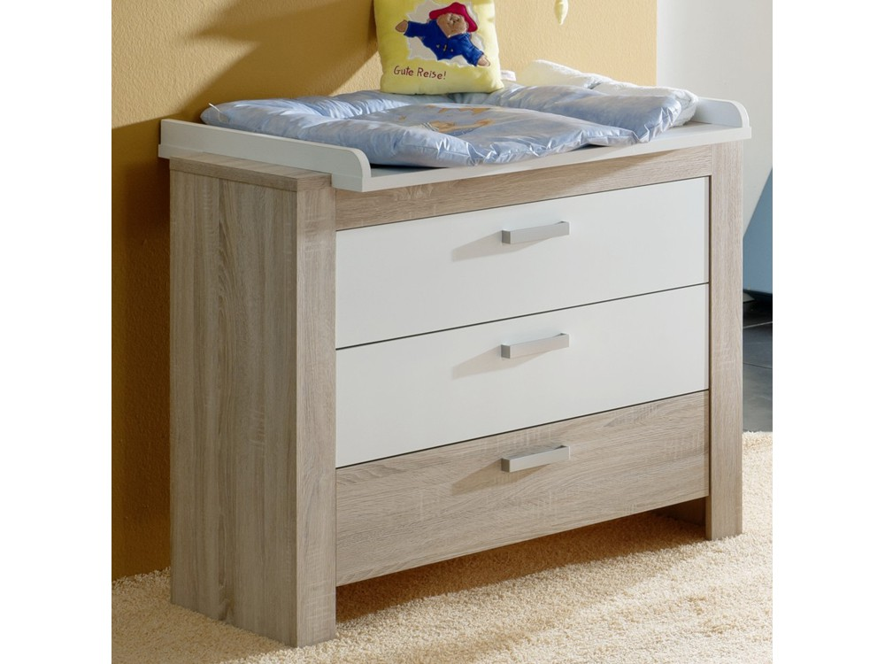 babyzimmer set 2 teilig eiche s gerau kinderbett. Black Bedroom Furniture Sets. Home Design Ideas