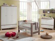 Kinderbett Babybett Bella Dekor wildeiche trüffel  weiß matt
