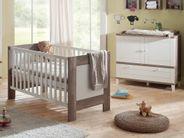 Babyzimmer SET 2 teilig wildeiche trüffel Kinderbett Wickelkommode