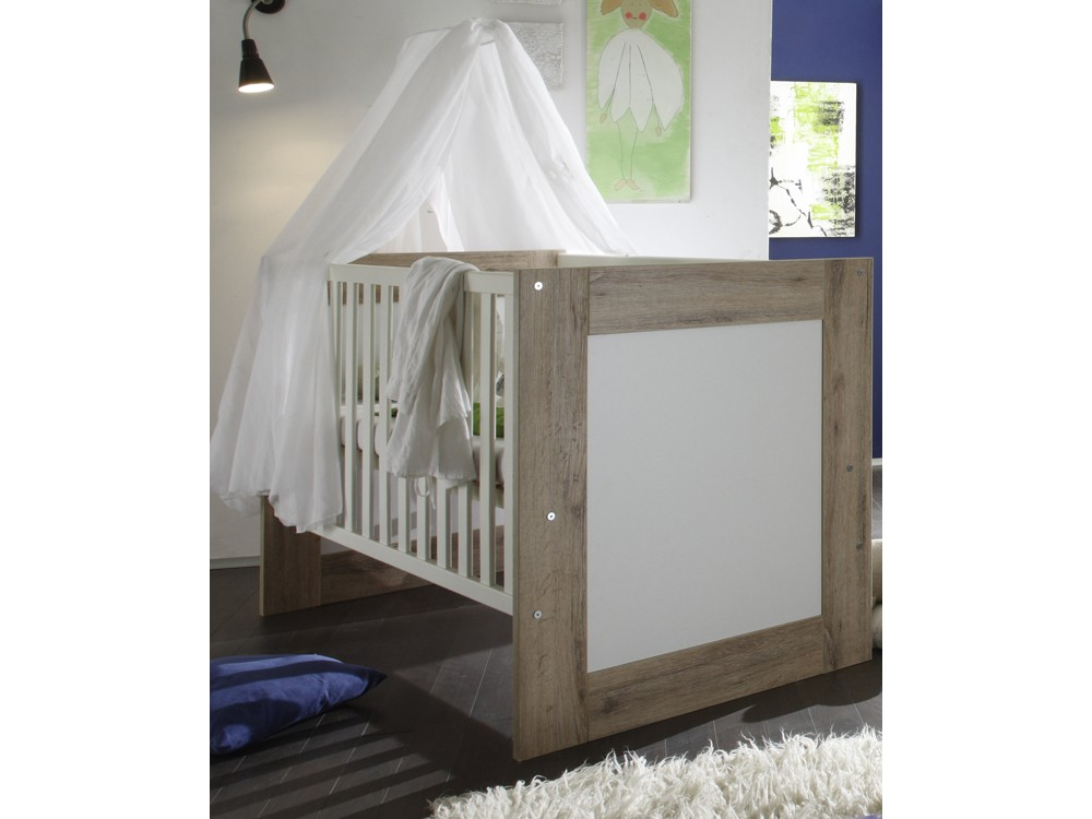 babyzimmer set 2 teilig kinderbett wickelkommode sanremo hell. Black Bedroom Furniture Sets. Home Design Ideas