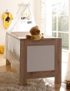 Kinderbett Babybett Babyzimmer Twin Zwillinge runde Sprossen sanremo hell