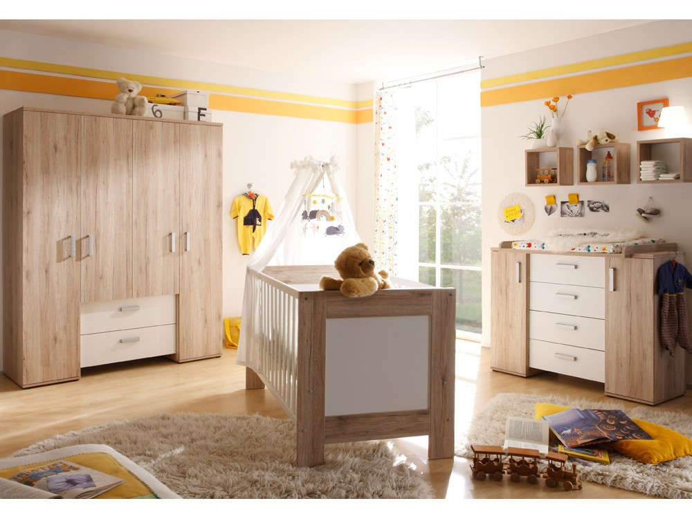 kleiderschrank xxl kinderzimmer twin dekor sanremo hell wei matt. Black Bedroom Furniture Sets. Home Design Ideas