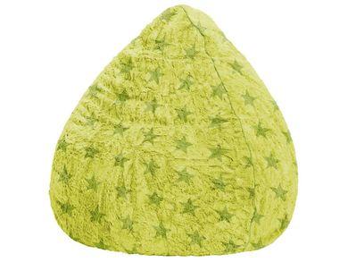 Kinder Sitzsack XL grün Beanbag Sterne Fluffy 70x110