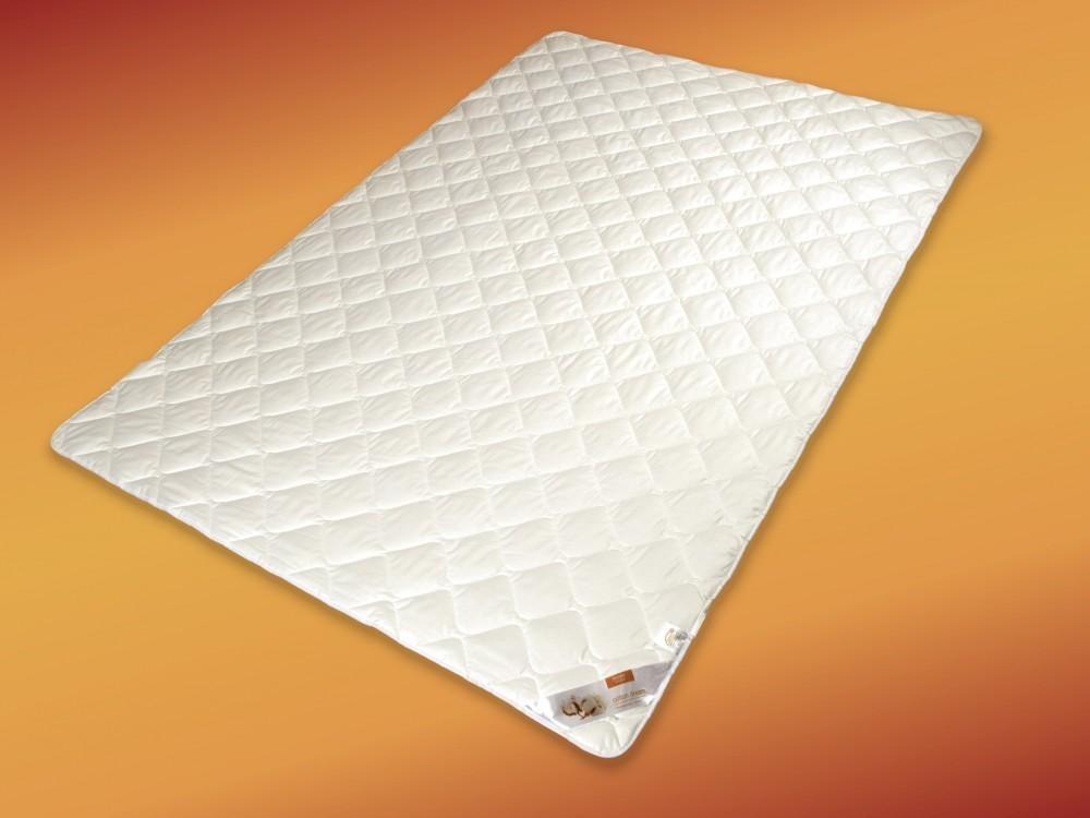 Matratzenauflage 200x200 Topper Unterbett Baumwolle weiß Spanngummis 001