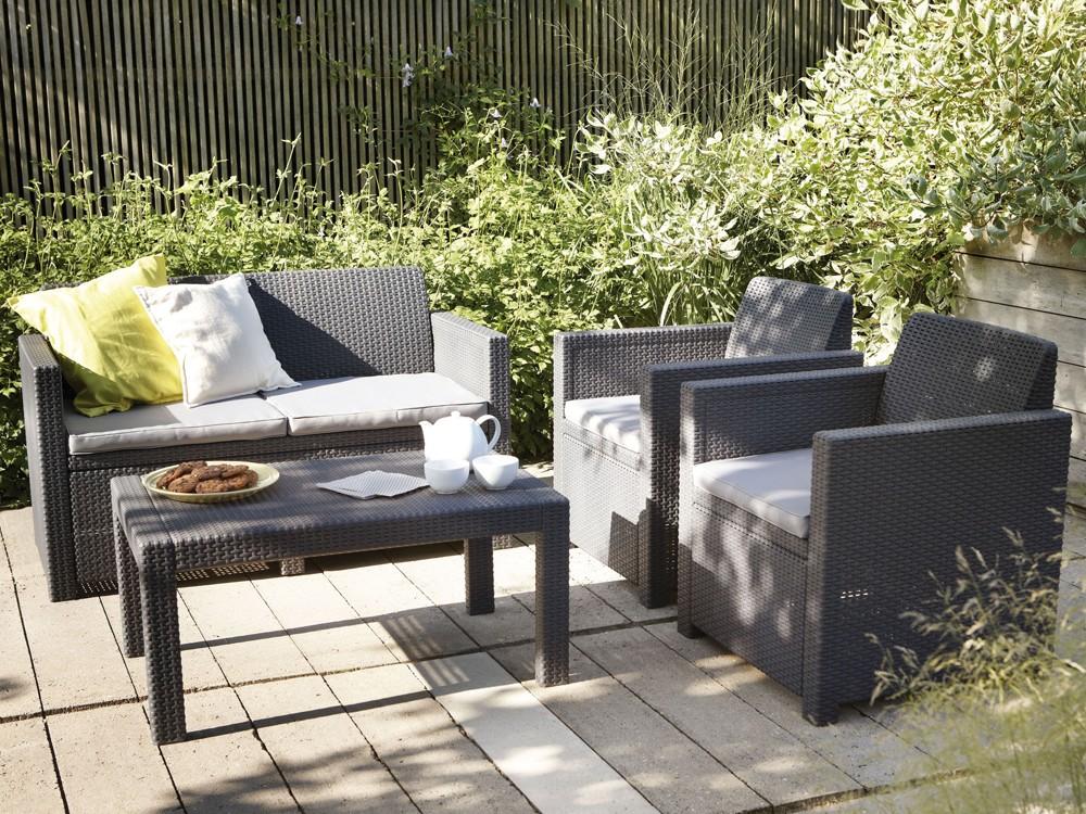 Allibert Lounge Mobel ~ Gartenlounge loungemöbel sitzgruppe kunststoff inkl.sitzpolster