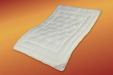 Sommer Bettdecke 200x220 Zirbe extra leicht Bio Wolle Steppbett öko