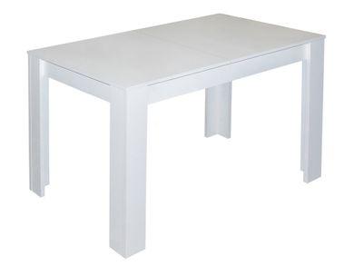 Ausziehtisch Küchentisch Weiß matt Esstisch 110/150x60cm
