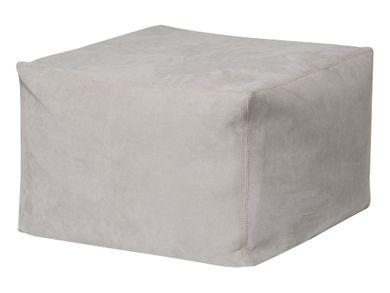 Bodenkissen grau Sitzkisssen Sitzhocker Wildlederimitat 80x80x45
