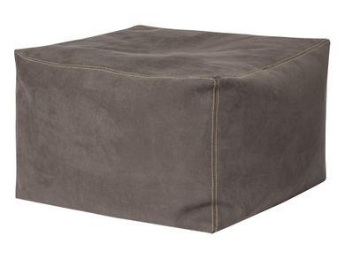 Bodenkissen Sitzkisssen braun Sitzhocker Wildlederimitat 80x80x45