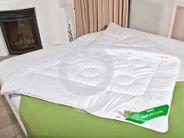 Steppbett Merino Wolle 200x220 Natur Bettdecke Überbreite
