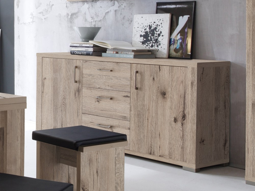 sideboard highboard 192x87x45cm sandeiche hell m bel m bel medienm bel. Black Bedroom Furniture Sets. Home Design Ideas