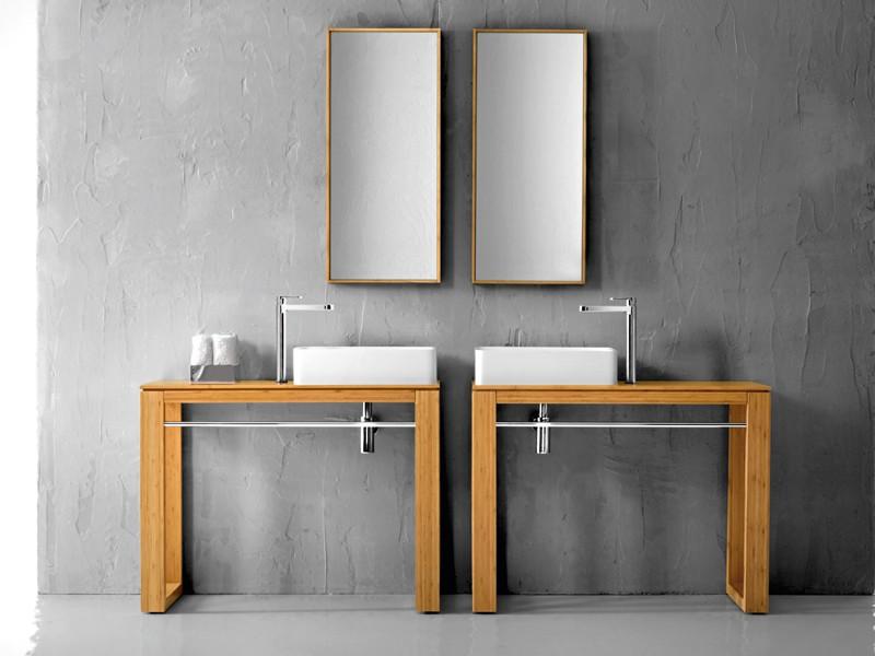 Waschtisch Massivholz natur 100cm Lineabeta für Waschbecken 001