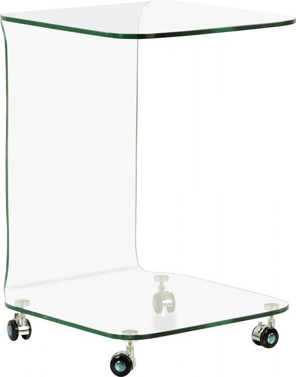 Glas beistelltisch auf rollen couchtisch eckig aus glas for Beistelltisch glas eckig