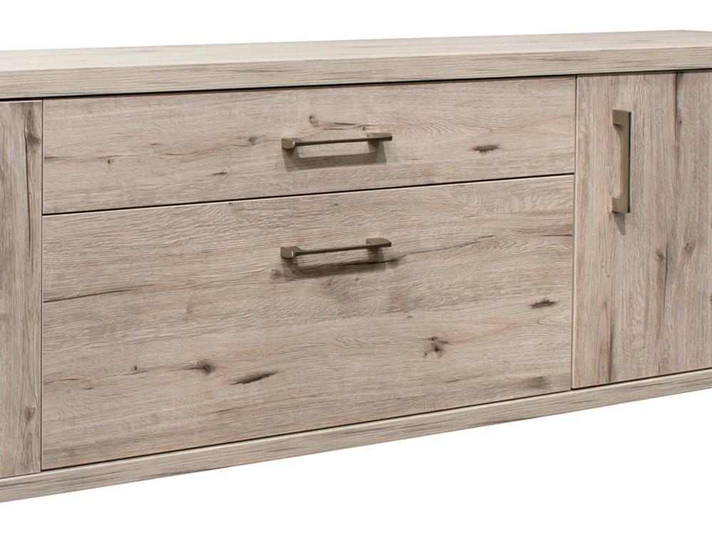lowboard fernsehunterschrank extra breit 223cm sandeiche. Black Bedroom Furniture Sets. Home Design Ideas