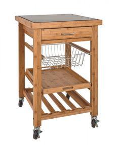 Küchenwagen Massivholz Butcherblock Massivholz mit Granitplatte