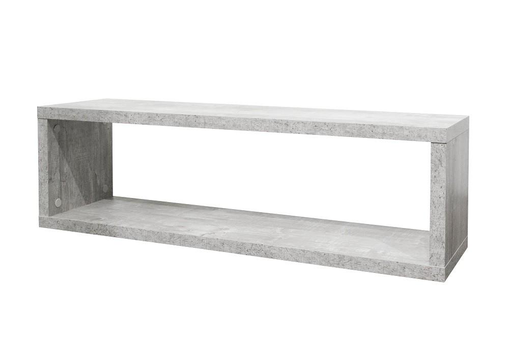 h ngeregal wandboard beton dekor 82 cm breit. Black Bedroom Furniture Sets. Home Design Ideas
