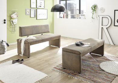 Polsterbank Sitzbank Esszimmer gepolstert Vintage Braun