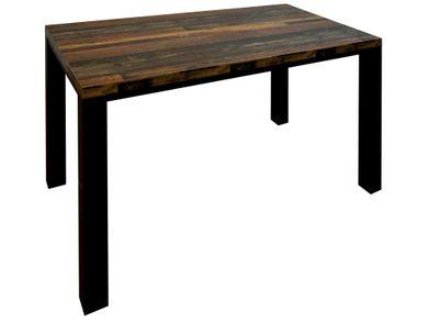 Esszimmertisch Esstisch 140x90 Platte Texas Oak Gestell schwarz