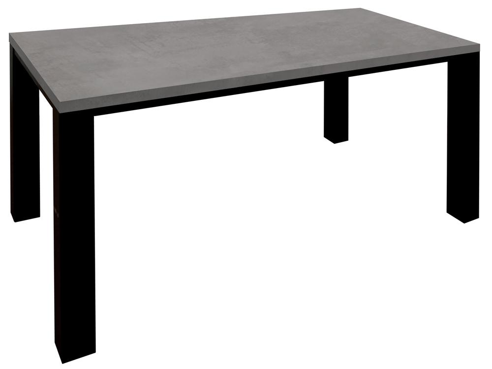 Esstisch Esszimmertisch 160x90 Texas Design Graphit Gestell schwarz 001