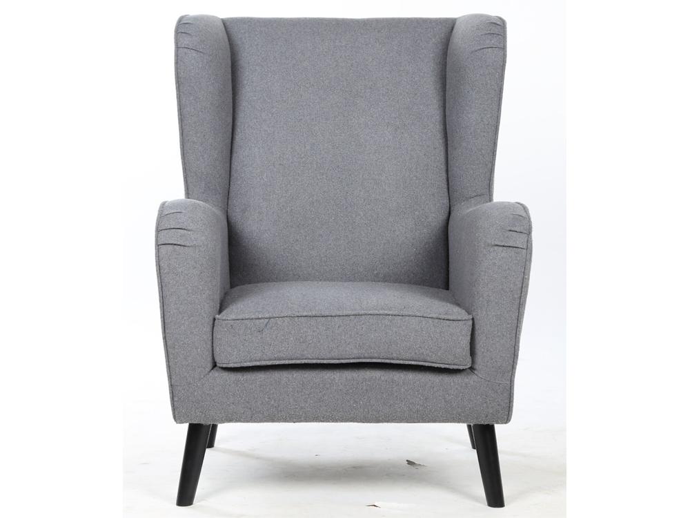 Lese Sessel armlehnstuhl grau filzstoff lesesessel polstersessel