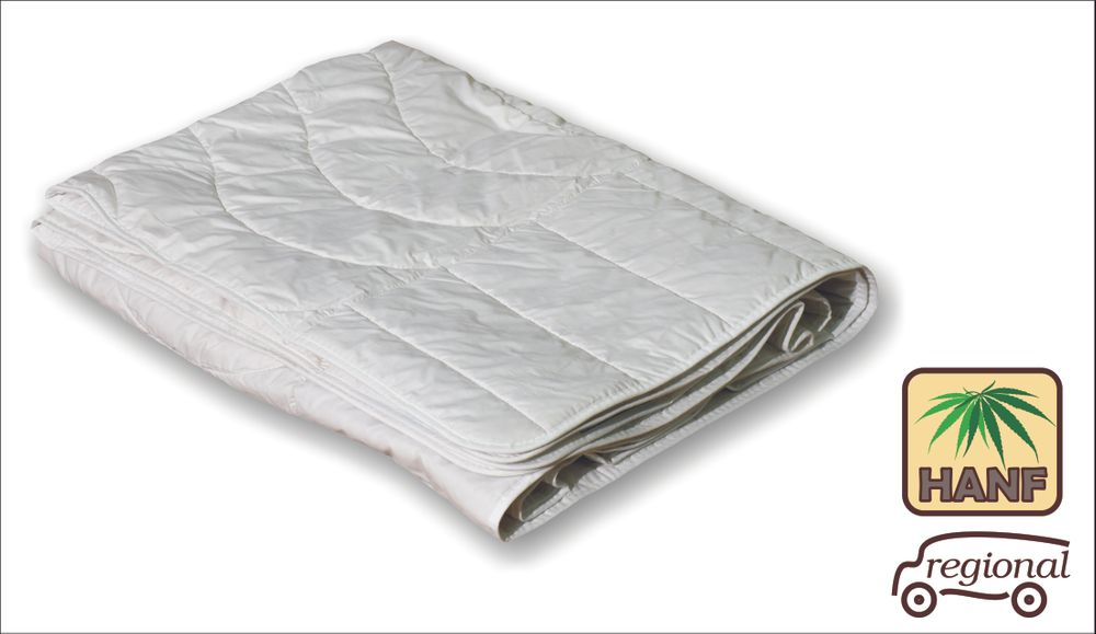 Hanf Sommer Bettdecke 155x200 Steppdecke extra leichte Bio Bett waschbar 001
