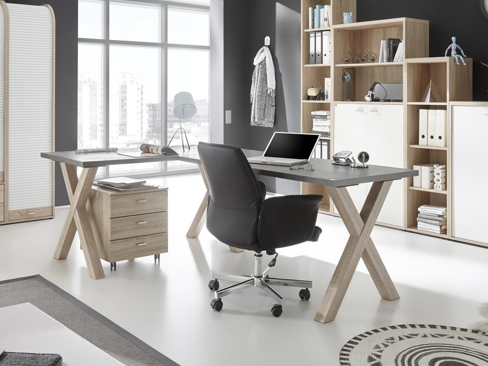 Schreibtisch 120x70 Computertisch Home Office Graphit
