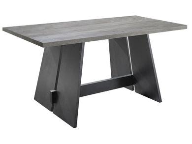 Esszimmertisch Wangentisch Tischplatte Beton 140x90 Wangen Schwarzstahl