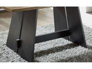 Esszimmertisch Wangentisch Design Schwarz Weiß 160x90 mit Schwarzstahl