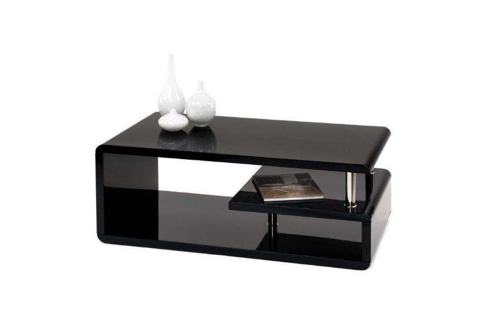 Couchtisch Wohnzimmertisch Schwarz Hochglanz 110x60x42  001